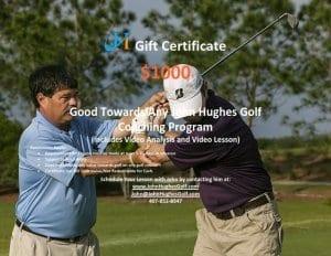 John Hughes Golf, $1000 Gift Certificate, Orlando Golf Lessons, Orlando Golf Schools, Florida Golf Schools, Florida Golf Lessons, Beginner Golf Lessons,