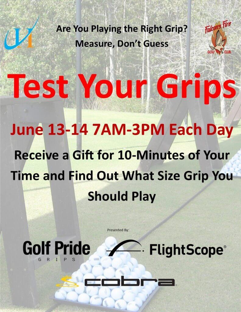 test Your Golf Grips, John Hughes Golf, Golf Lessons in Orlando, Best Golf Schools in Orlando, Golf Pride Grips, FlightScope, Cobra Golf, Falcon's Fire Golf Club, Best Orlando Golf Lessons, Best Orlando Golf Schools