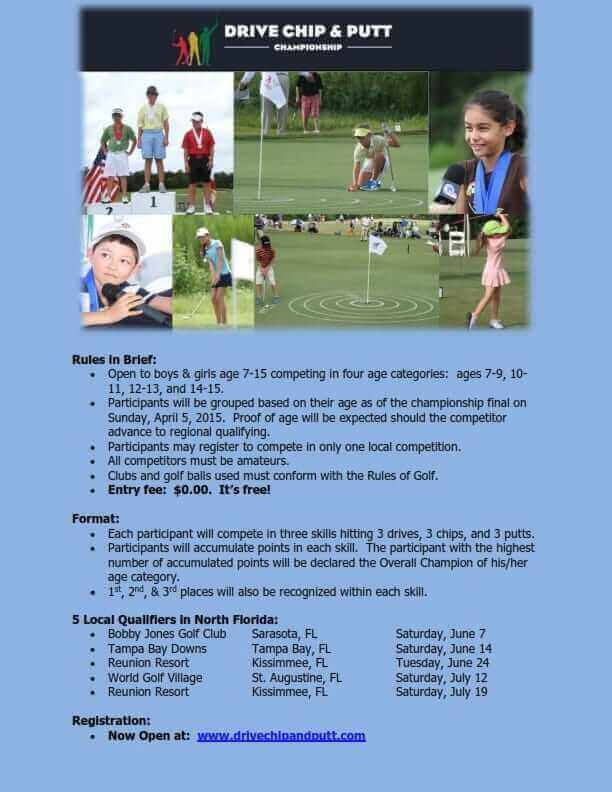 Only 24 Spots Remain for Florida's Drive Chip and Putt Local Events!