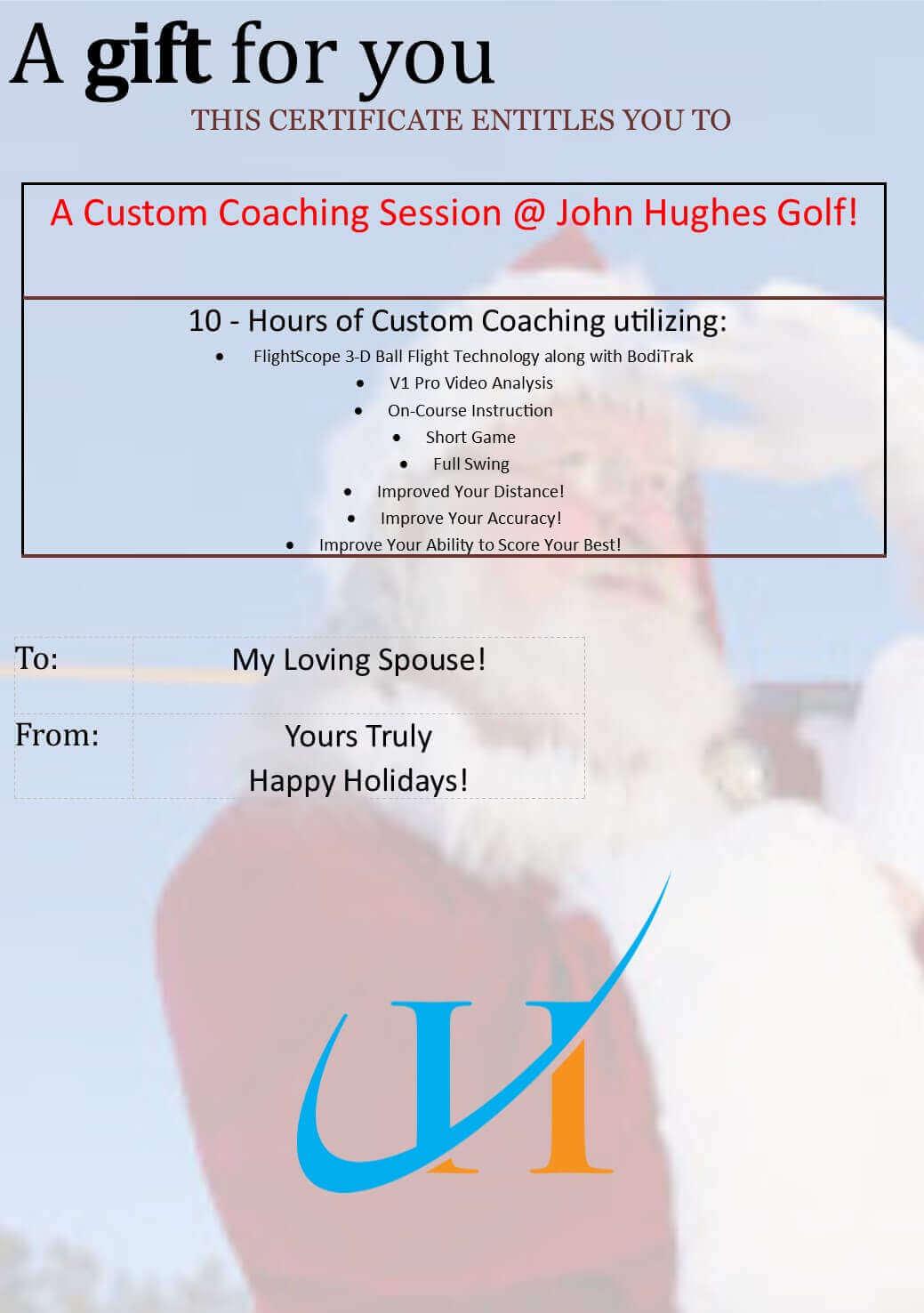 Holiday Gift Certificates - 25% Off, John Hughes Golf, Orlando Golf Lessons, Orlando Golf Schools, Best Orlando Junior Golf Lessons, Best Orlando Junior Golf Schools, Best Orlando Ladies Golf Lessons