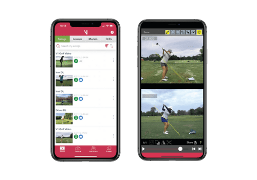 v1 golf video technology